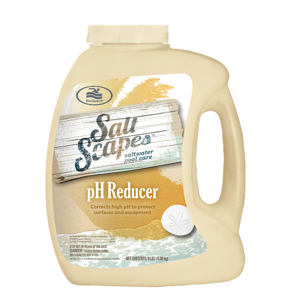 Salt Scapes pH reducer option to purchase at pool supply company NW Indiana.