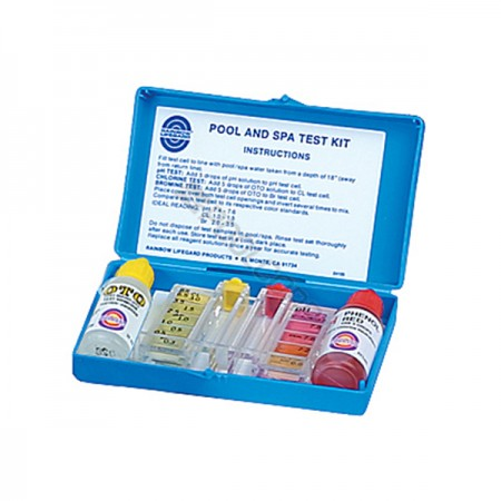 Pool and spa test kit, our Orland Park inground pool installers are professional and reliable.