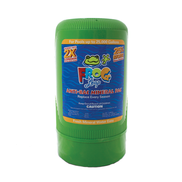 Frog mineral pac option to purchase at pool supply company Chesterton.