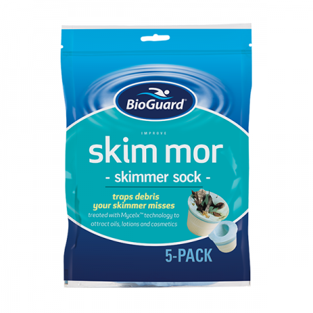 Skim mor skimmer sock, for proper pool water conditioning turn to the pool experts at swimming pool store Dyer.