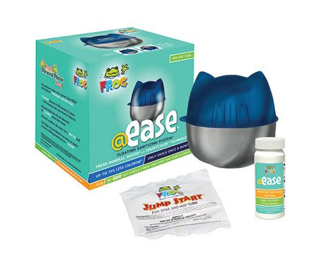 Frog @ease floating sanitizing system package when searching for good pool installation company Crown Point.