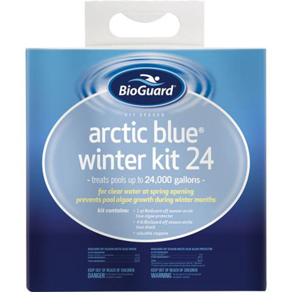 BioGuard Arctic Blue Winter kit 24 for good Valpo pool business that can does inground swimming pool openings.