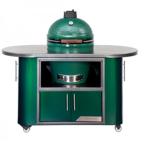 Custom compact cooking island for purchase with pool contractor Saint John IN.