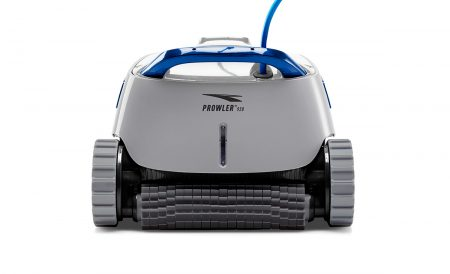 A pool vacuum when looking to buy hot tub that is display in showroom of Mokena spa store.
