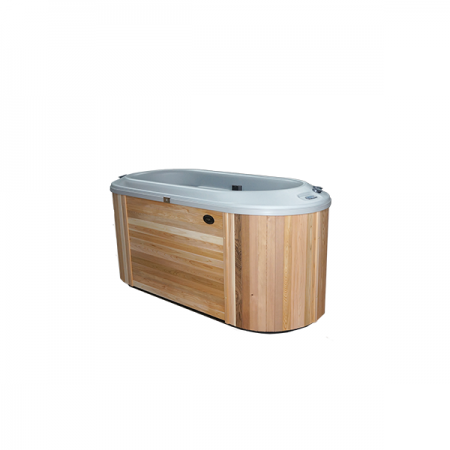 Nordic Bella hot tub model that is on display in showroom of Schererville pool store.
