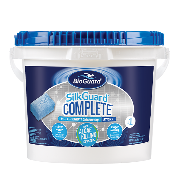 30 lb bucket of complete pool sticks, local pool installers Orland Park have years of experience building quality inground pools.